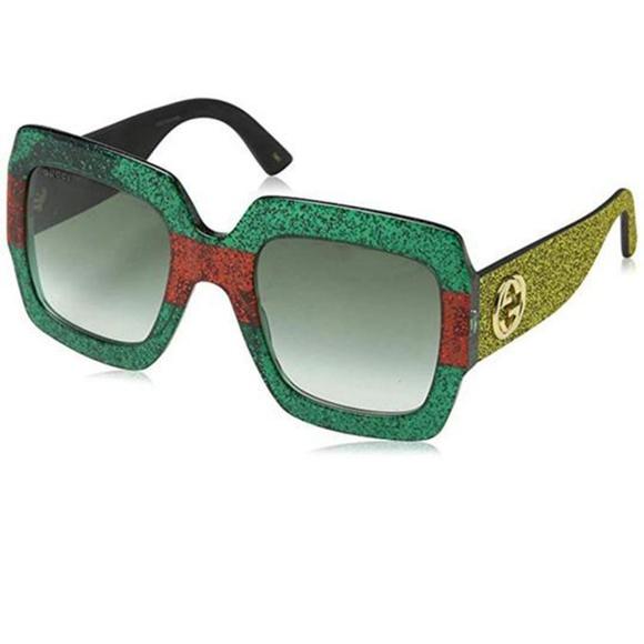 76cf797740d Gucci Sunglasses Gold Glitter Arms Multi-Color